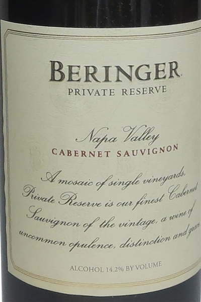 Beringer Vineyards Private Reserve Cabernet Sauvignon 1985