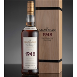 ♦ Macallan Fine and Rare 53 Year Old Single Malt Scotch 1948