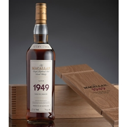 ♦ Macallan Fine and Rare 53 Year Old Single Malt Scotch 1949