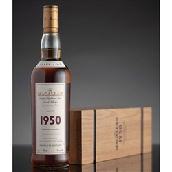 ♦ Macallan Fine and Rare 52 Year Old Single Malt Scotch 1950
