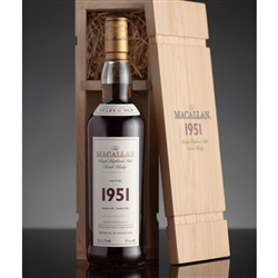♦ Macallan Fine and Rare 51 Year Old Single Malt Scotch 1951