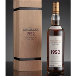 ♦ Macallan Fine and Rare 50 Year Old Single Malt Scotch 1952