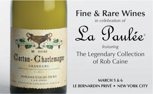 Fine & Rare Wines in Celebration of La Paulée, <br>New York,<br>March 5-6