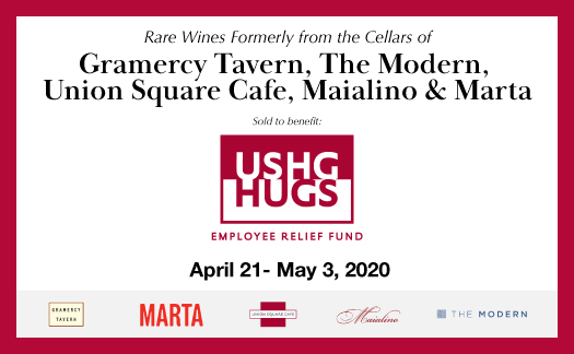 Rare Wines from the Cellars of Gramercy Tavern, The Modern, Union Square Cafe, Maialino & Marta