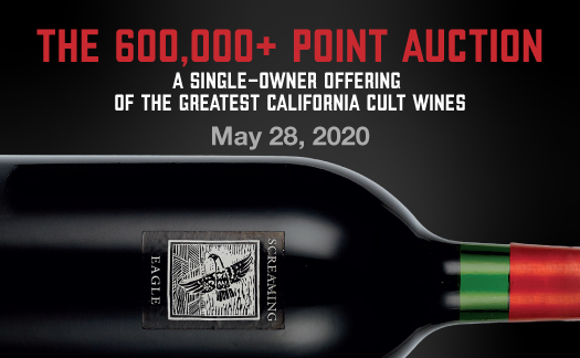 The 600,000+ Point Auction,<br>A Single-Owner Offering of the World's Greatest Wines,<br>May 28