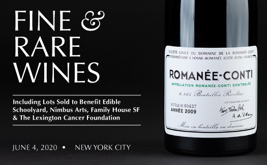 Fine & Rare Wines,<br>New York,<br> June 4
