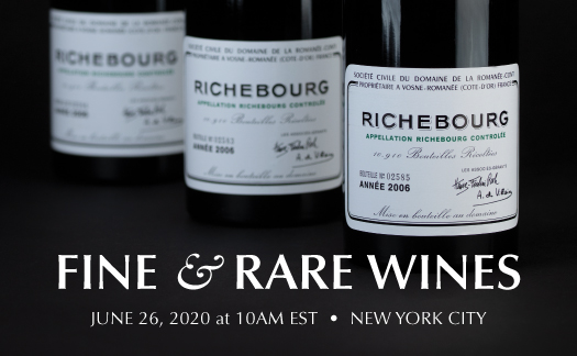 Fine & Rare Wines, New York, June 26